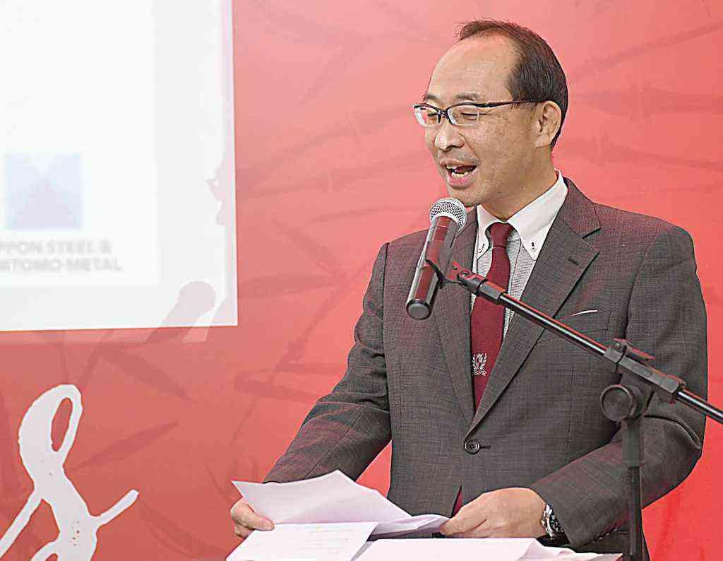 Egawa destaca a chegada dos japoneses, especialmente da Nippon, para a construção da primeira siderúrgica de Minas
