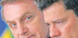 Moro e Bolsonaro em nova rusga