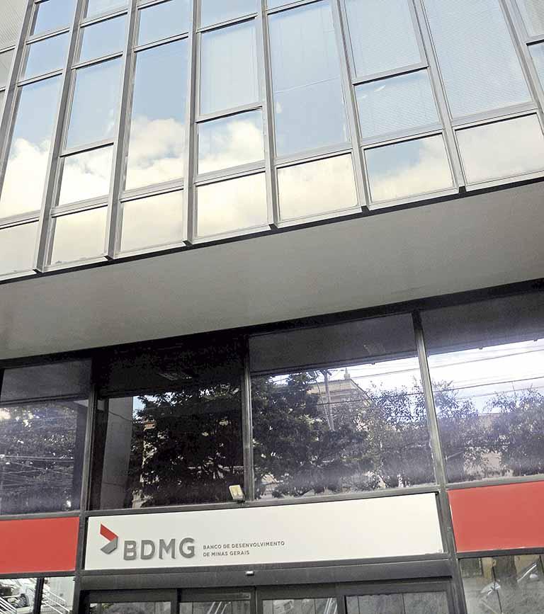 Fachada do Banco de Desenvolvimento de Minas Gerais (BDMG)