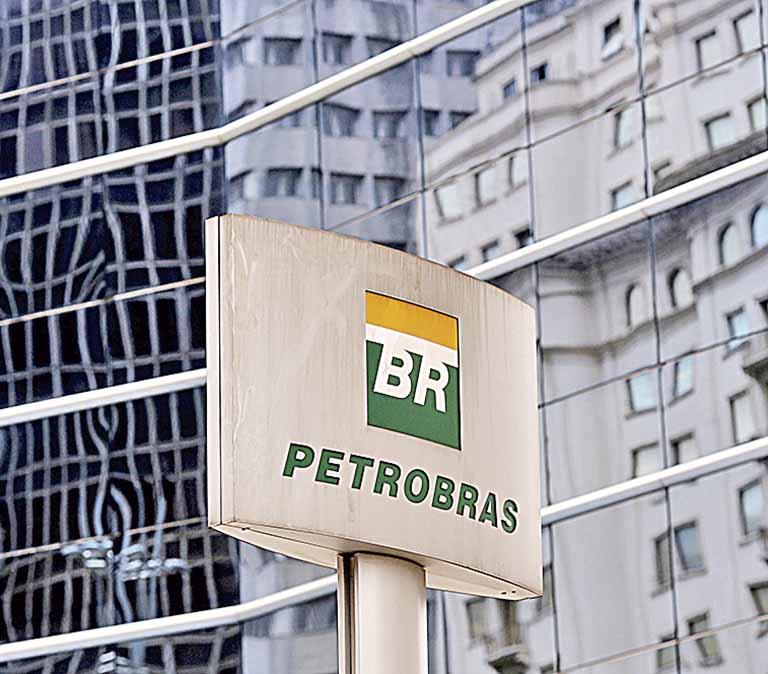 Logo da Petrobras fotografado em São Paulo (SP)