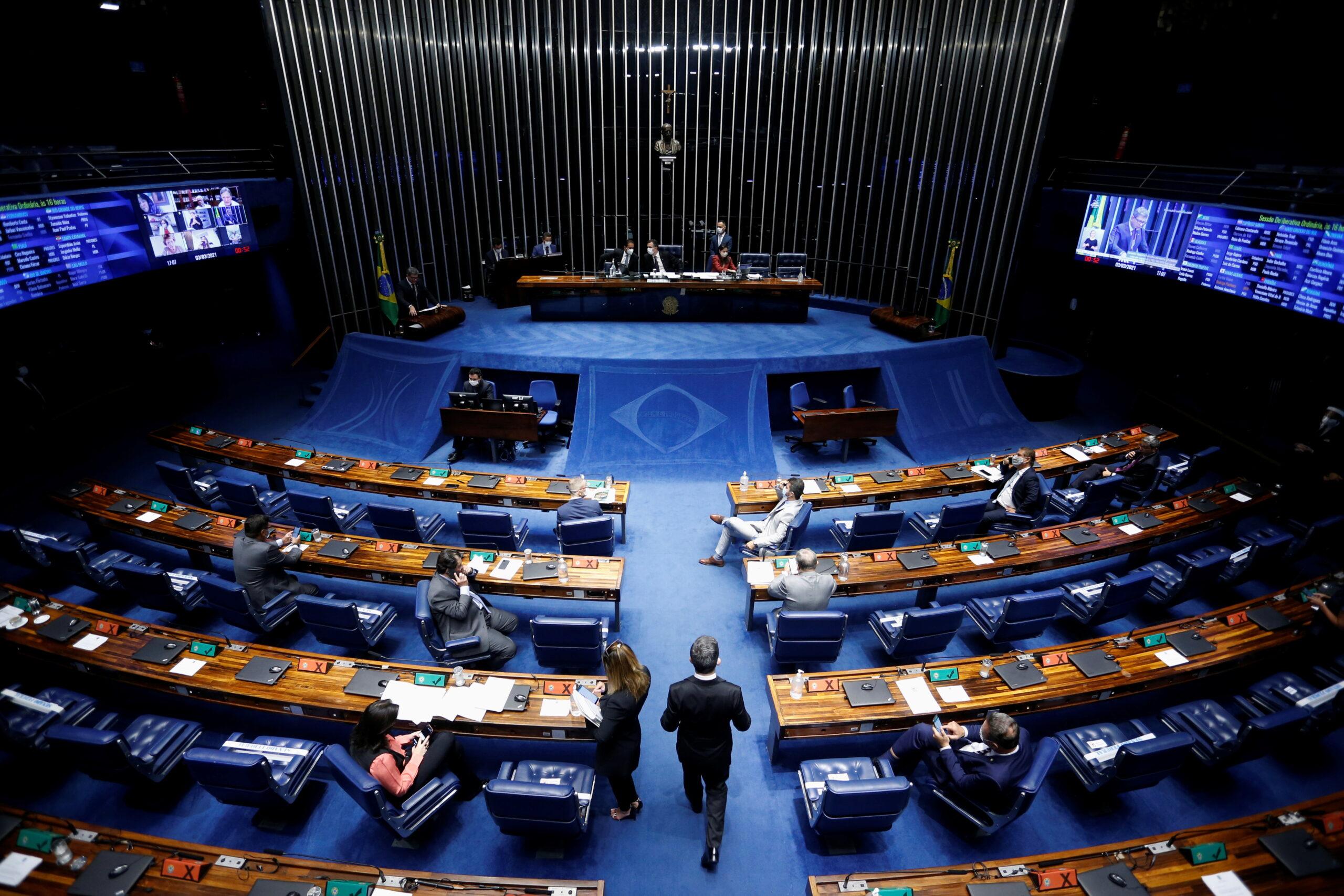 Reunião no Plenário do Senado Federal