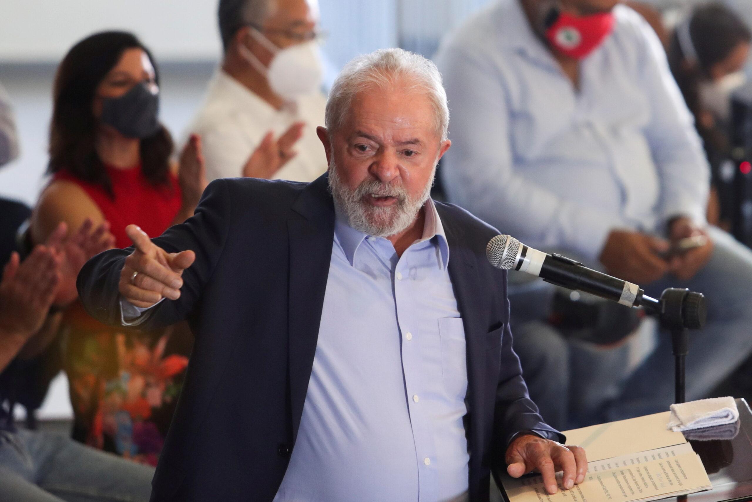 Ex-presidente Luiz Inácio Lula da Silva em São Bernardo do Campo