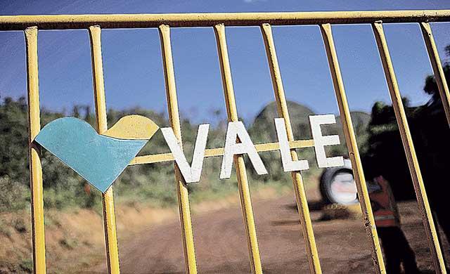 Logo da Vale fotografado em Brumadinho (MG)