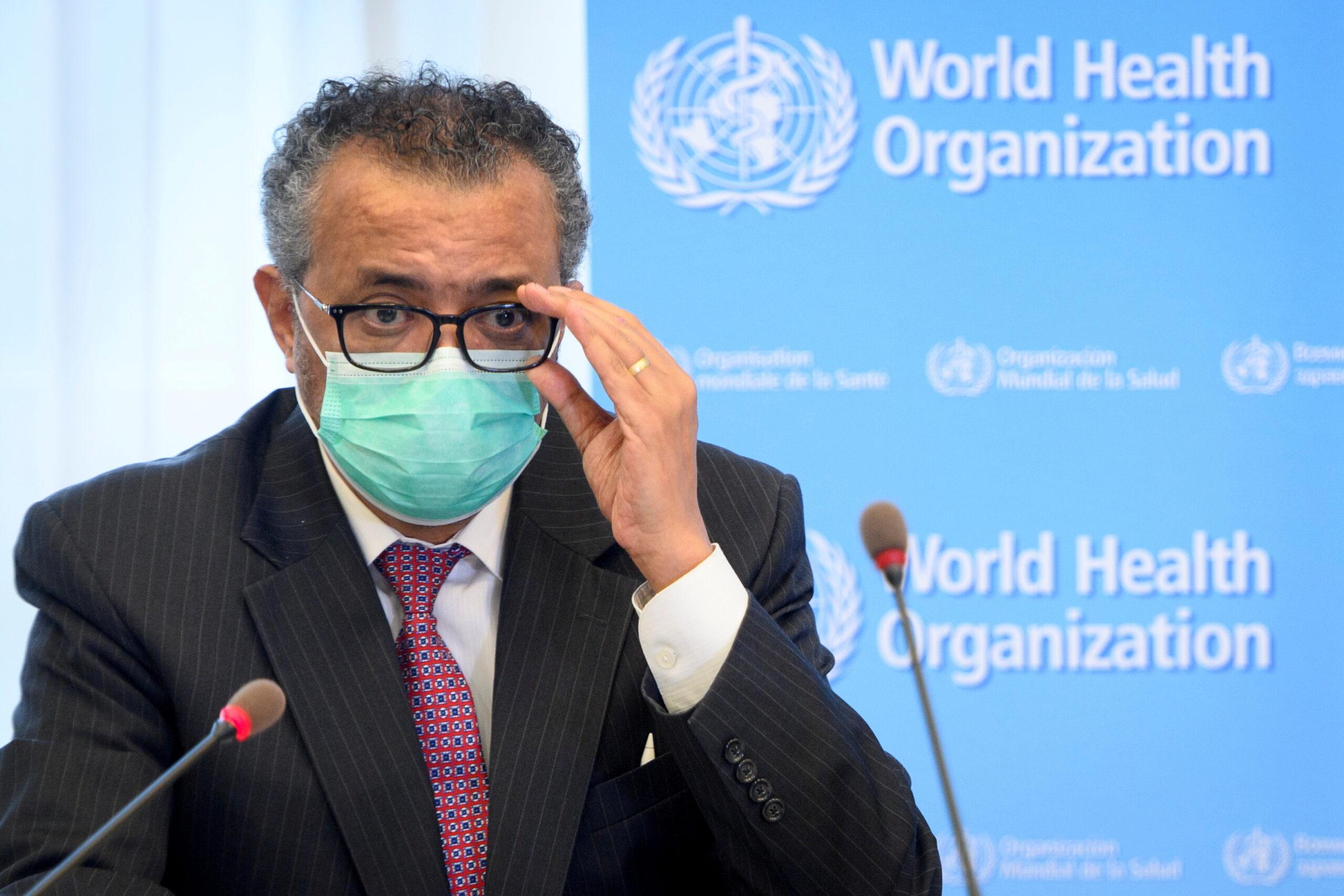 Diretor-geral da OMS, Tedros Adhanom Ghebreyesus