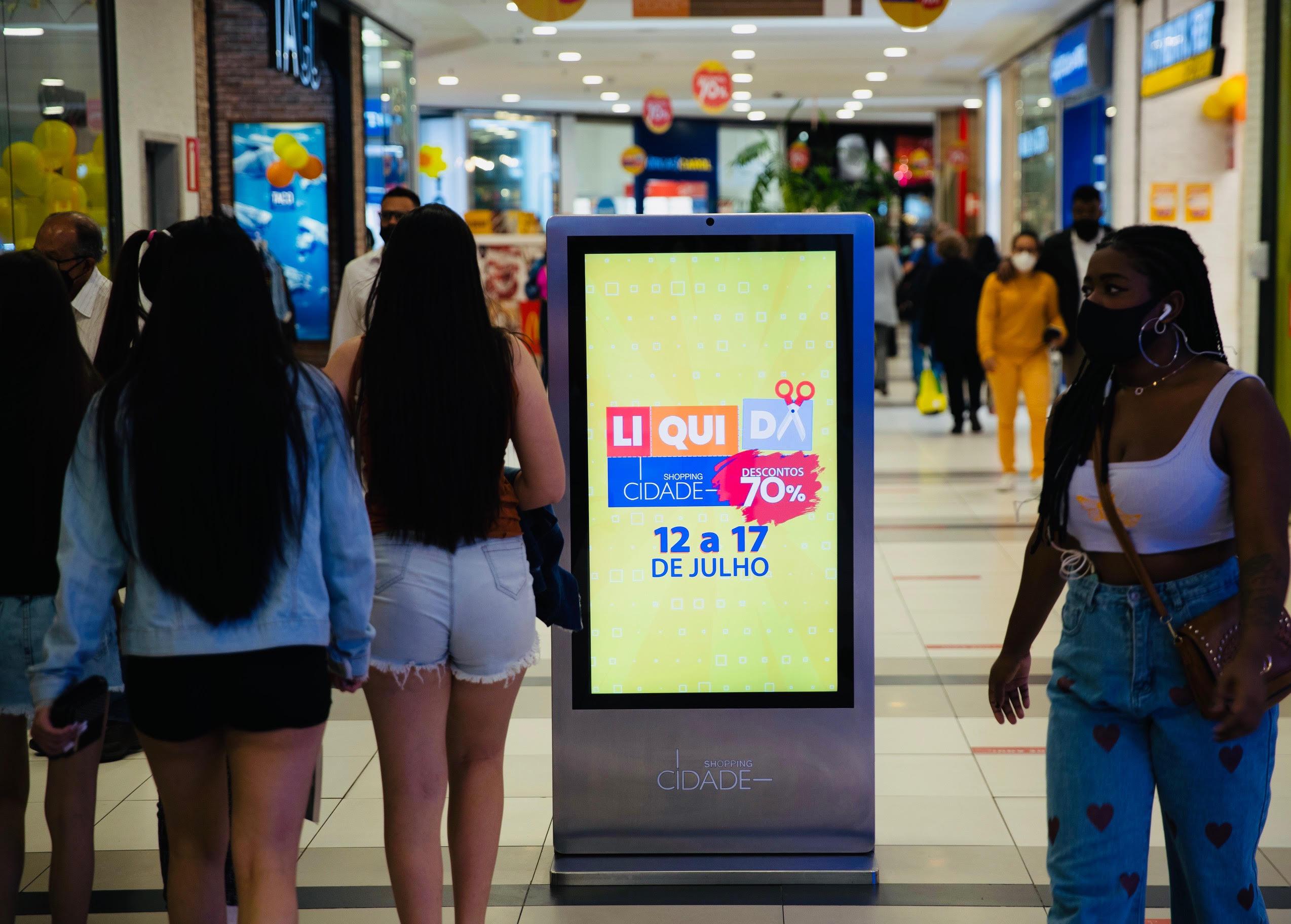 Token com a divulgação do Liquida Shopping Cidade