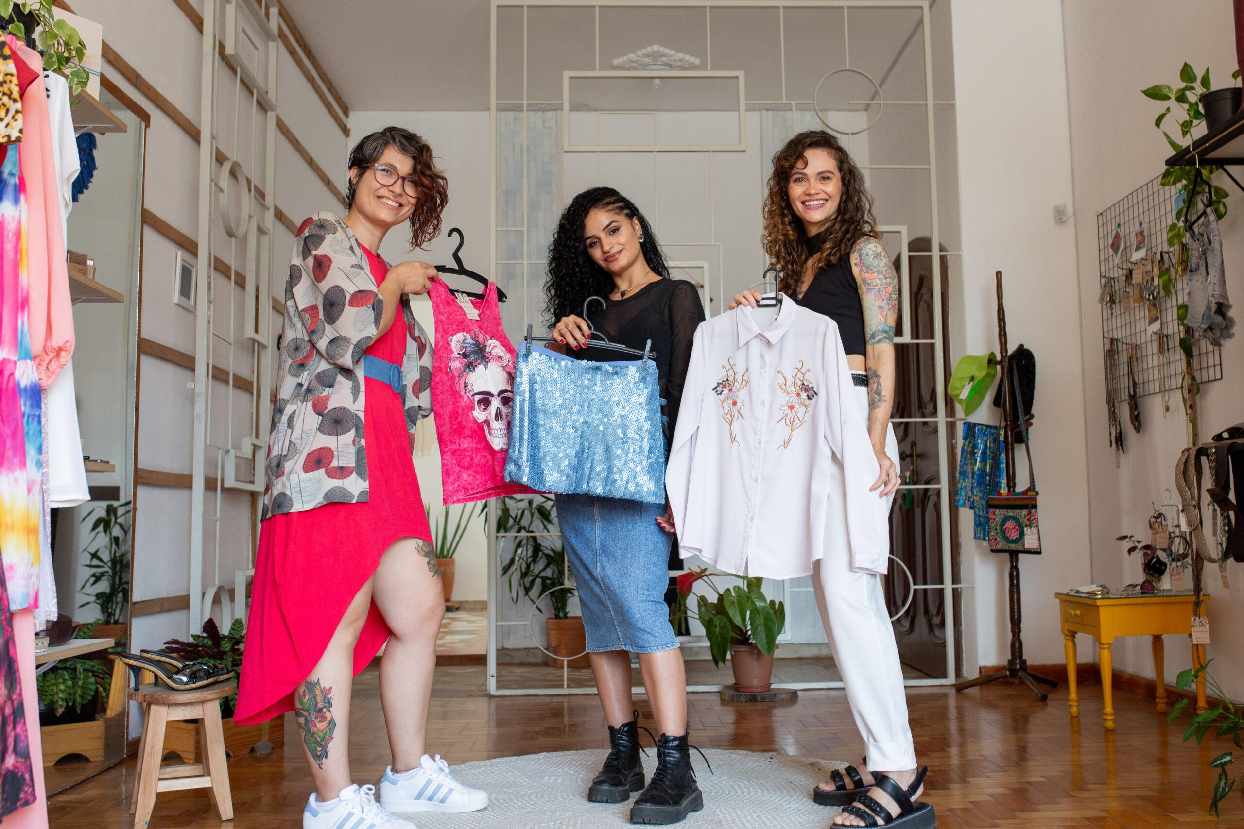 Cuidado do brechó com as roupas e ambiente aconchegante são marcas do Espacim, de Governador Valadares - Crédito: Ana Paula Assis
