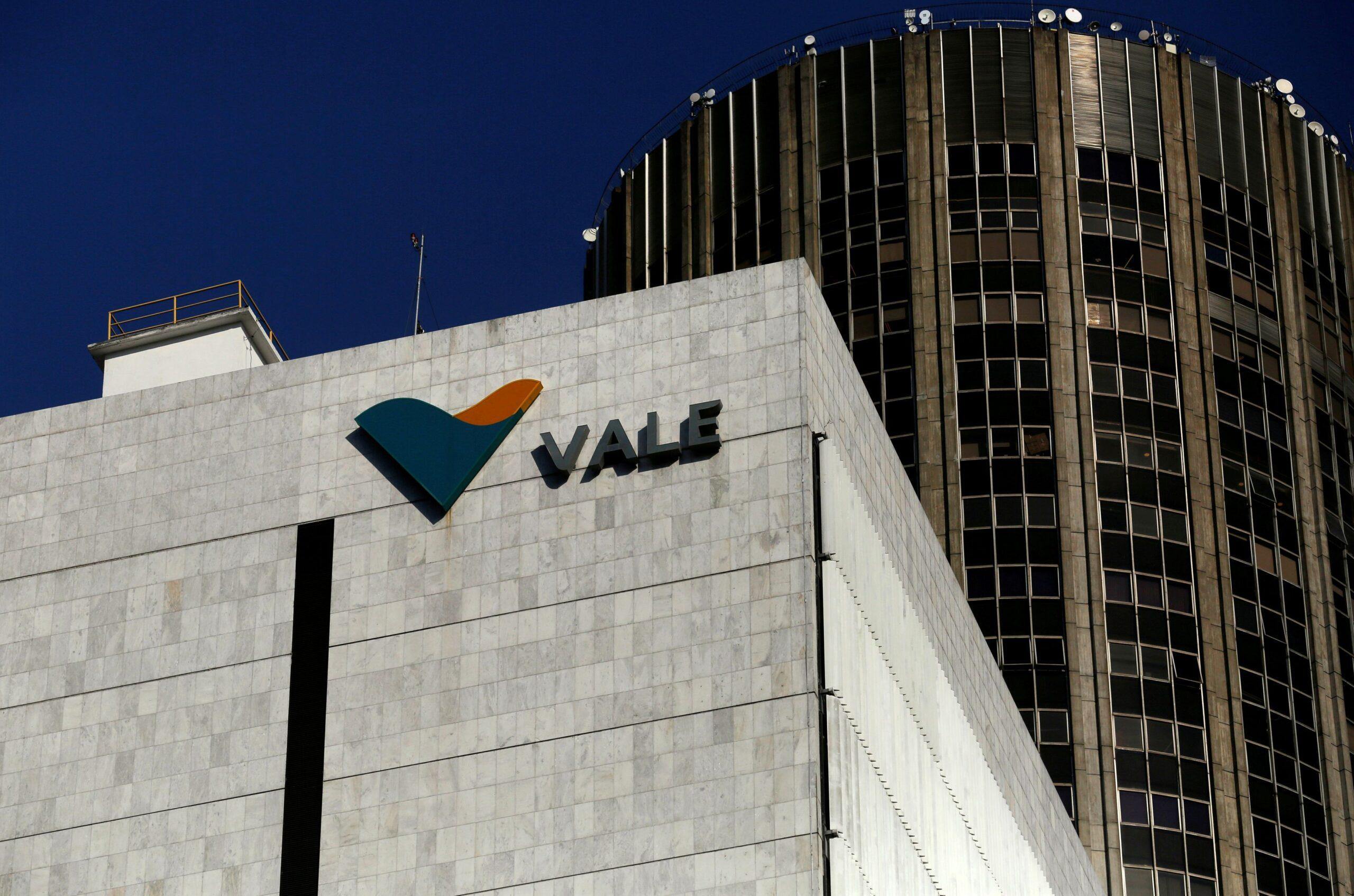 Logo da Vale na sede da empresa no centro do Rio de Janeiro
