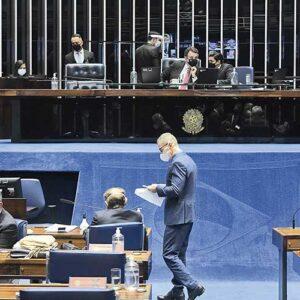Projeto do TRF-6 foi aprovado em plenário após articulação do presidente do Senado, Rodrigo Pacheco (Democratas)   Crédito: Jefferson Rudy/Agência Senado
