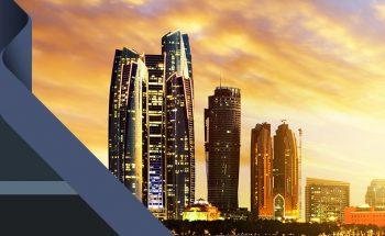 Prédios em Dubai, cidade do Emirados Árabes Unidos
