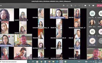 Videoconferência para introdução dos novos aprendizes na CNHi em Sete Lagoas   Crédito: Reprodução