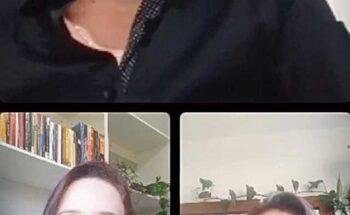 Fernando Beiral, Michelle Campos e  Juliana Gaudêncio em live do CIEE/MG | Crédito: FOTO: REPRODUÇÃO INSTAGRAM