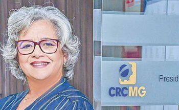 A presidente do CRCMG, Rosa Maria Abreu Barros, destaca a importância da convenção | Crédito: Divulgação