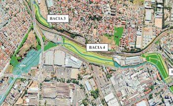 Um conjunto de obras visa deter enchentes causadas pelo córrego do Ferrugem, na divisa de Belo Horizonte e Contagem   Crédito: Seinfra/Divulgação