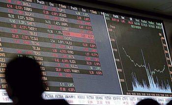 Painel da bolsa de valores
