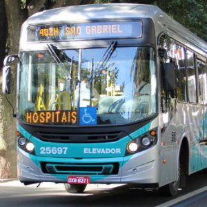 Transporte metropolitano com destino à área hospitalar em Belo Horizonte - Crédito: Mércia Lemos/Agência Minas